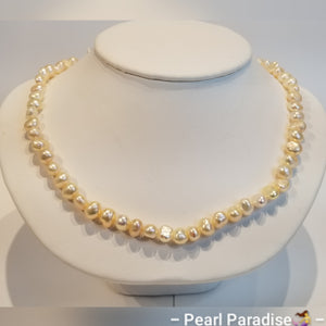 Cream Freshwater Nugget Pearl Necklace