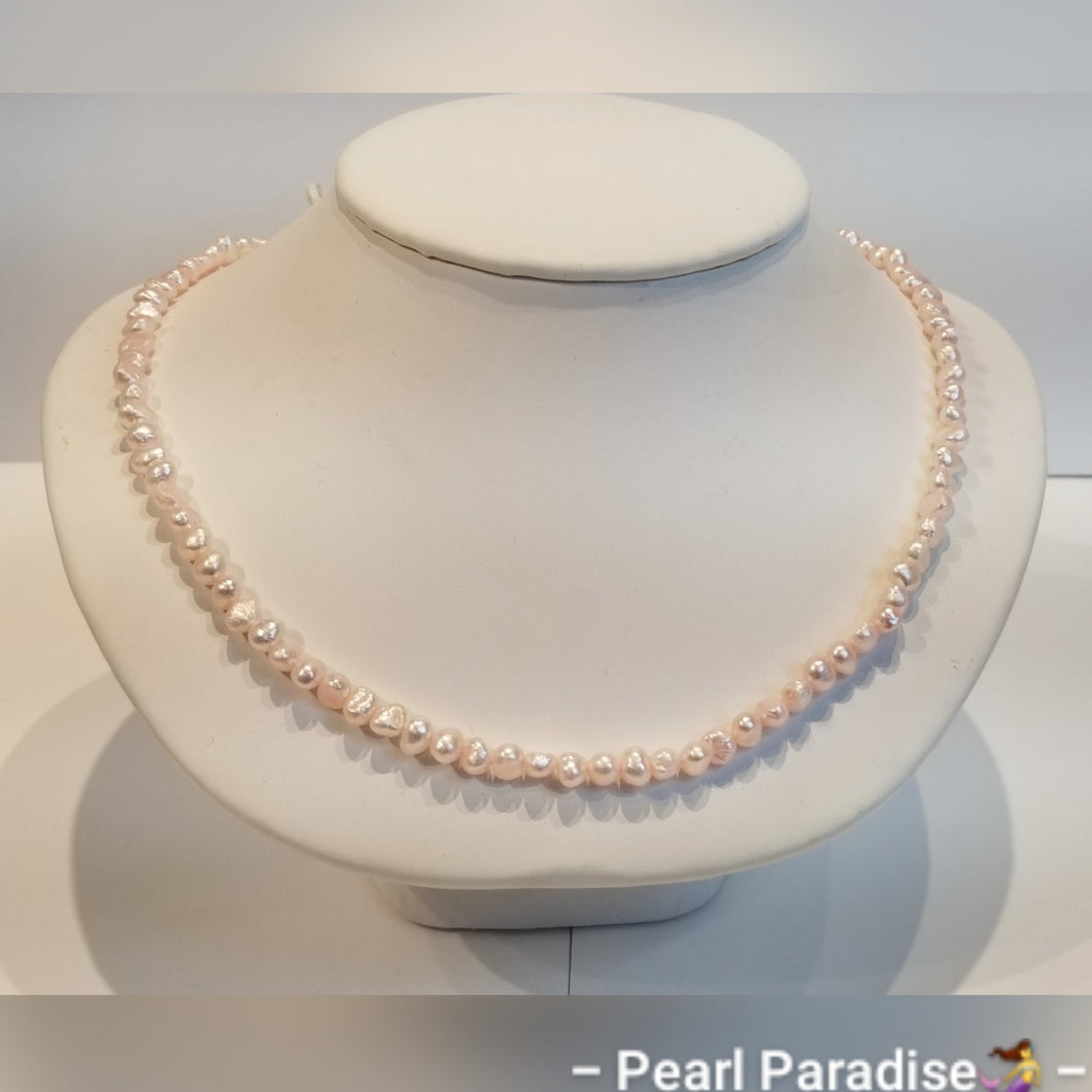 Pink Freshwater Nugget Pearl Necklace