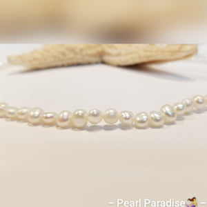 White Freshwater Nugget Pearl Necklace