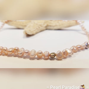 Lavender Freshwater Nugget Pearl Necklace