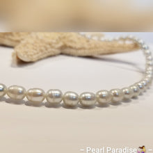 Load image into Gallery viewer, Light Gray Freshwater Rice Pearl Necklace