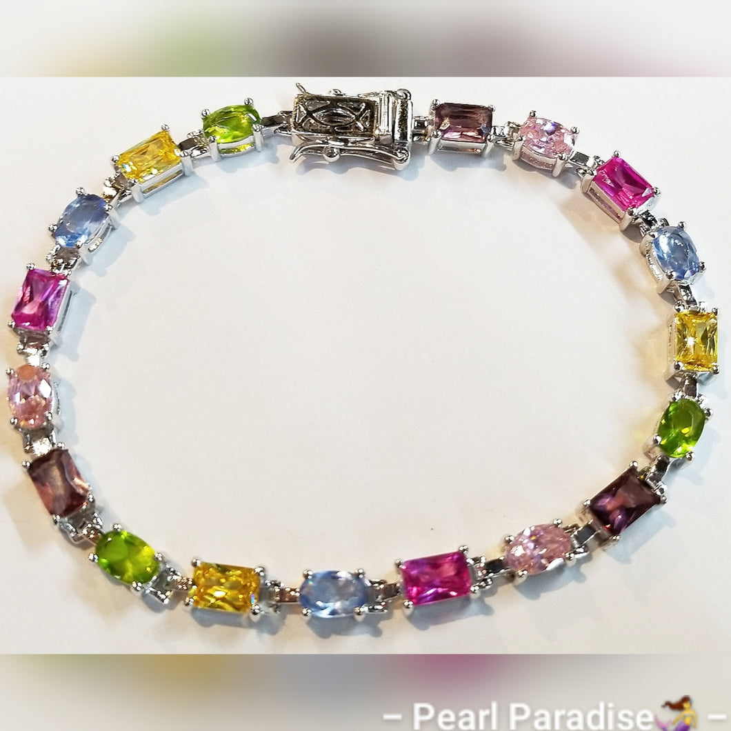 Mix-Shape Colorful Gemstone Bracelet