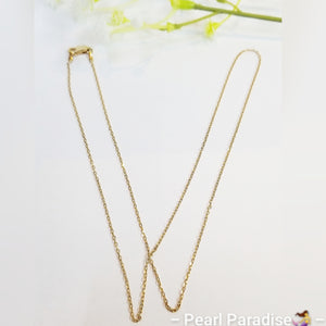 Oval Cable Style Chain 14K