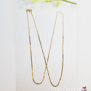 Square Cable Style Chain 14K