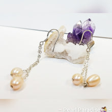 Load image into Gallery viewer, Double Pearl Drop Earrings