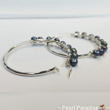 Load image into Gallery viewer, Pearl Wrap Hoop Earrings