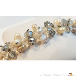 Pearl and Beads Elastic Bracelet