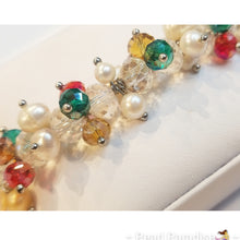 Load image into Gallery viewer, Pearl and Beads Elastic Bracelet