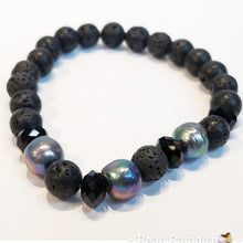 Load image into Gallery viewer, Black Volcano Pearl Bracelet