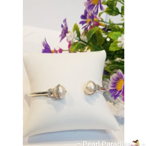 Adjustable Bangle Zirconia Pearl Bracelet