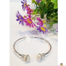 Load image into Gallery viewer, Adjustable Bangle Zirconia Pearl Bracelet
