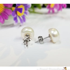 Freshwater Pearl Studs  10.5-11.5 mm