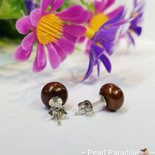 Load image into Gallery viewer, Freshwater Pearl Studs 7.5-8.8 mm