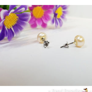 Freshwater Pearl Studs 7.5-8.8 mm