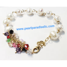 Load image into Gallery viewer, Multi-Color Crystal Pearl Bracelet