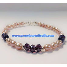 Load image into Gallery viewer, Lavender Love Pearl Bracelet