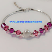 Load image into Gallery viewer, Fuchsia Crystal Bracelet