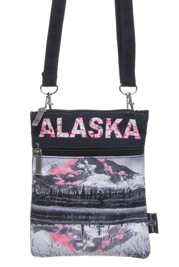 Digital Floral- Alaska Neck Wallet
