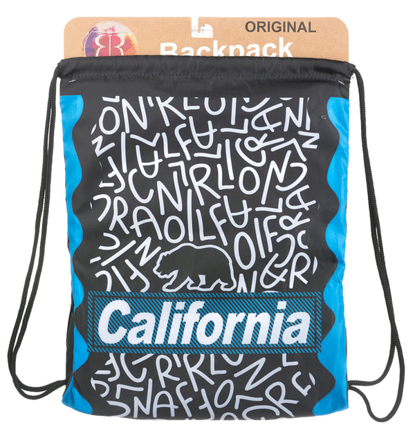 Balagan Bold- California Drawstring Backpack