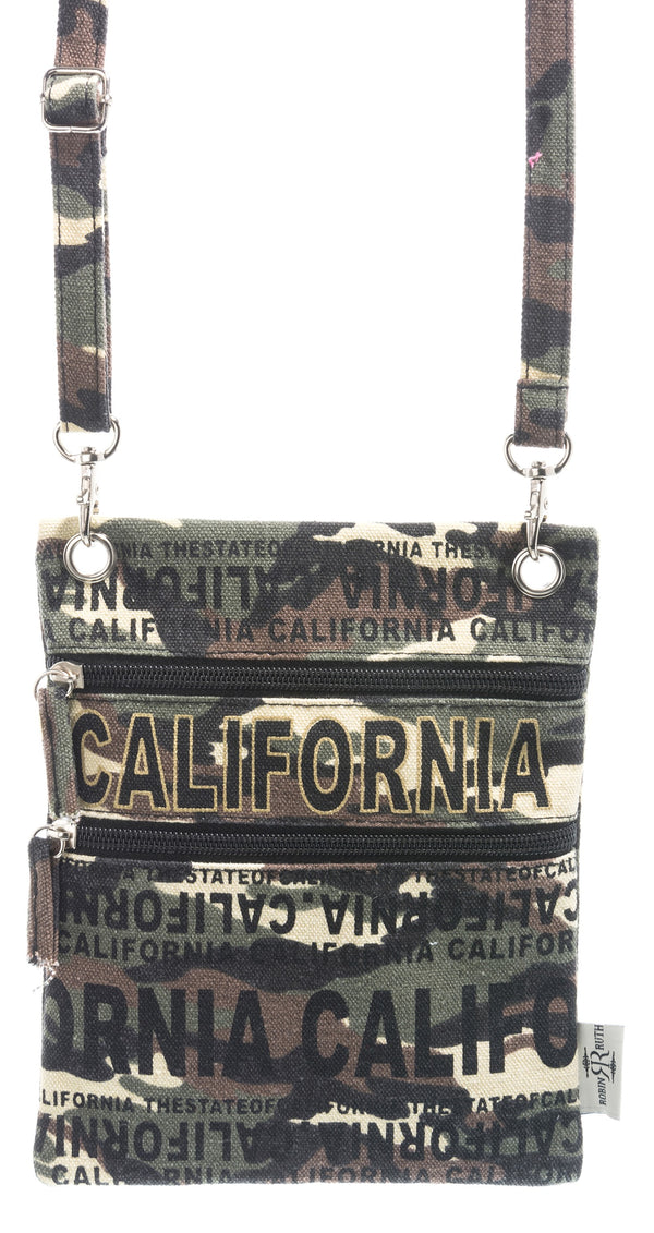 Camouflage- California  Neck Wallet