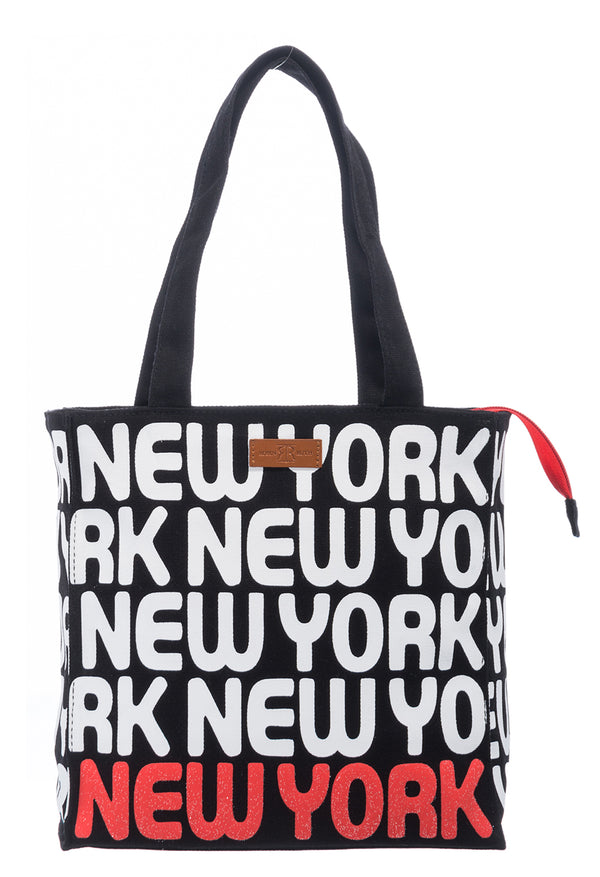Bold Letter- New York Small Tote