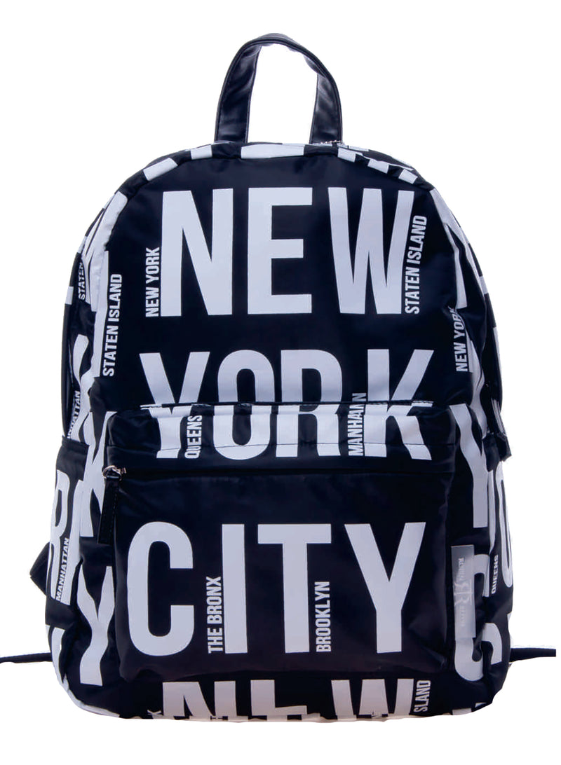 Bold Letter- NEW YORK Backpack