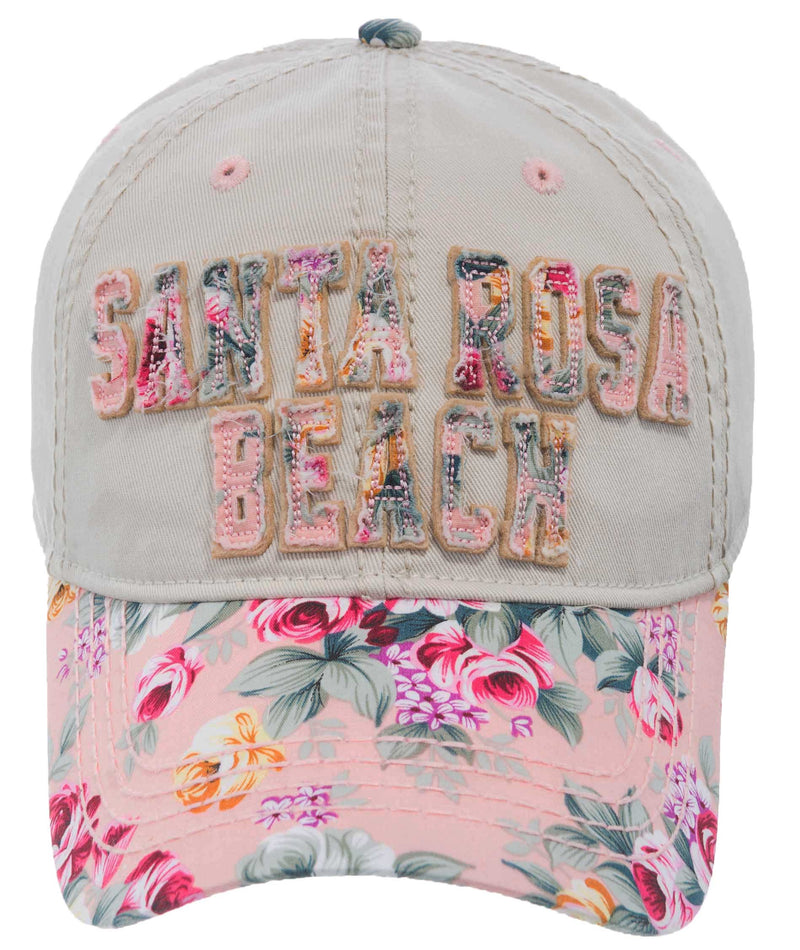 DISTRESSED FLOWER PATCH- SANTA ROSA BEACH CAP