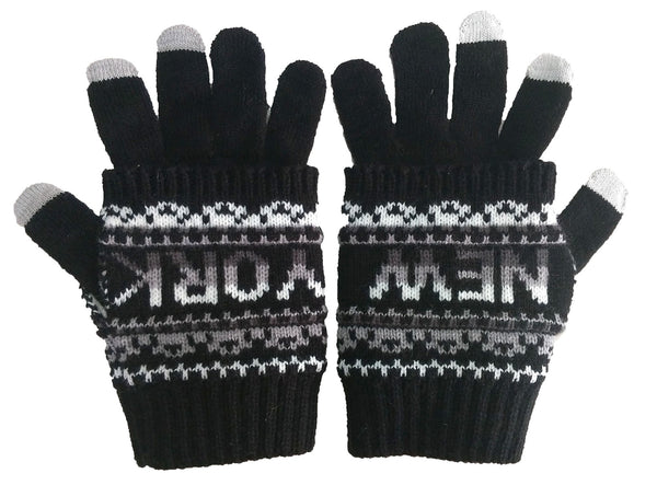Classic Winter Gloves- NY Smart Touch Black