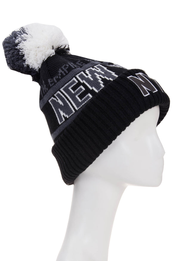 Classic Winter Beanie- NY Empire State Black