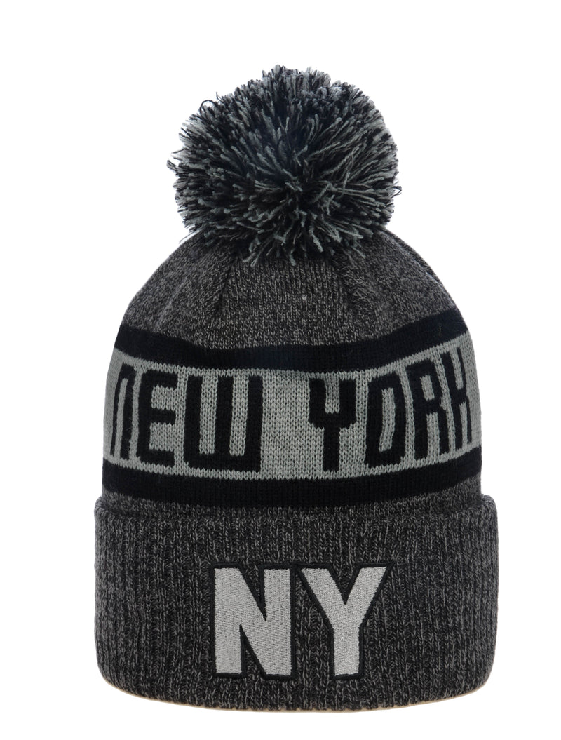 Carloss Winter Beanie- NY Charcoal & Black