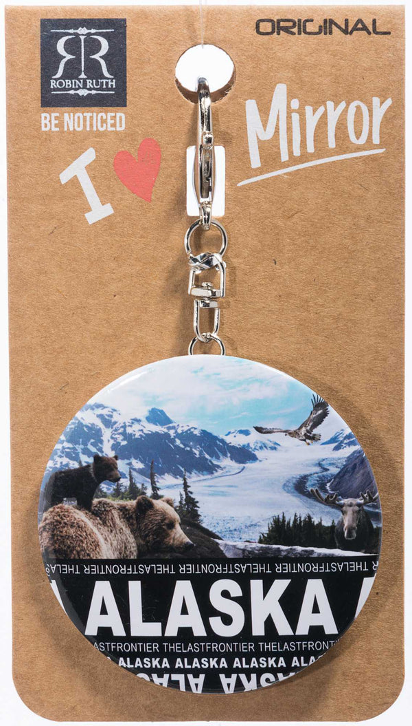SKYLINE DIGITAL- ALASKA MIRROR KEYCHAIN