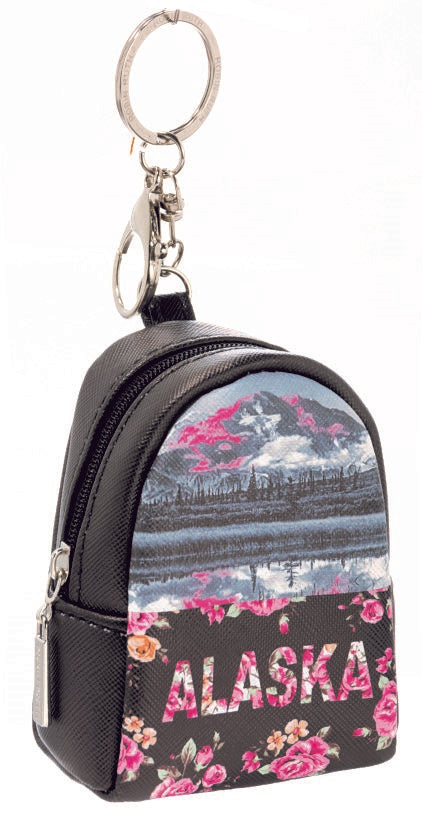 DIGITAL FLORAL- ALASKA BACKPACK KEYCHAIN