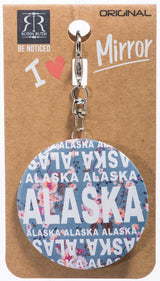 AMANDA COLLECTION- ALASKA MIRROR KEYCHAIN
