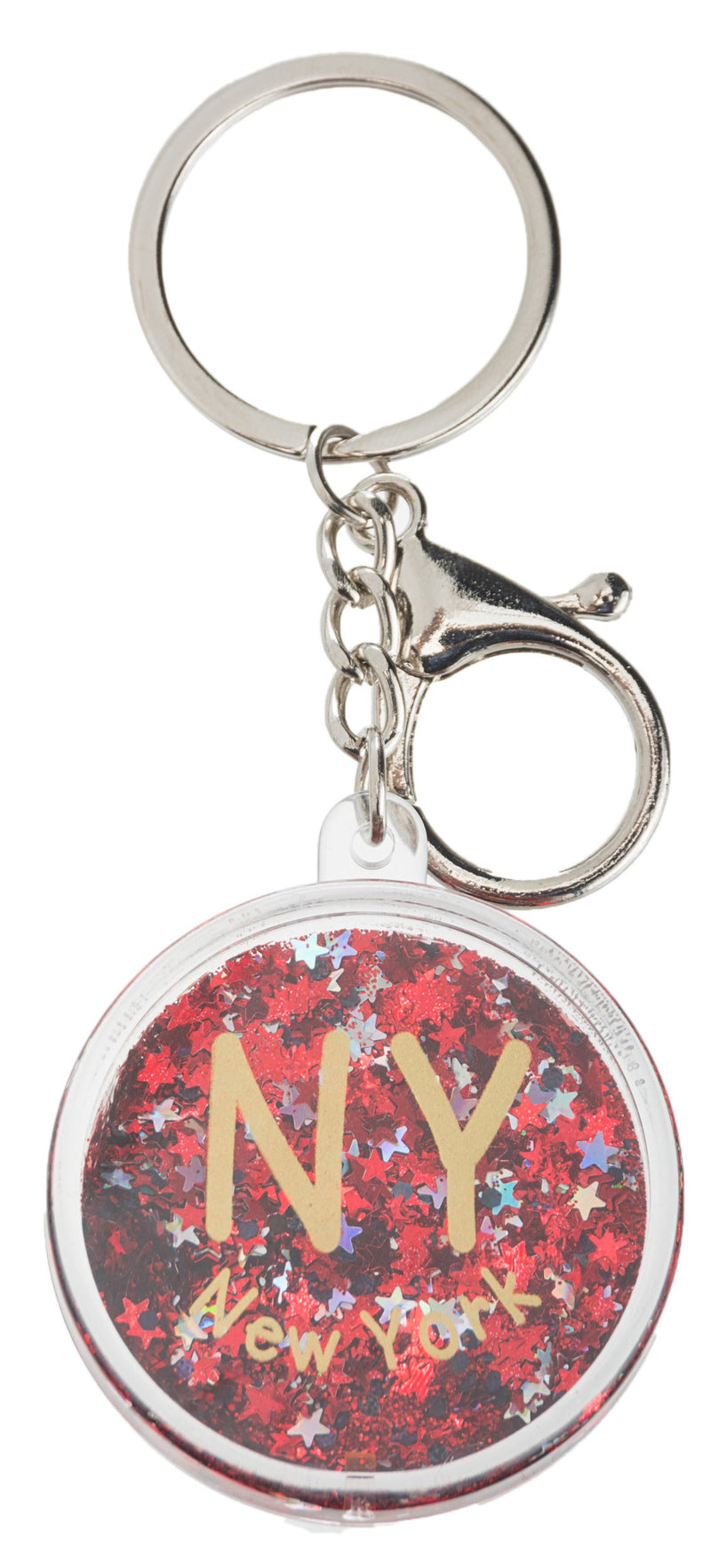 GLITTER KEYCHAIN- NEW YORK