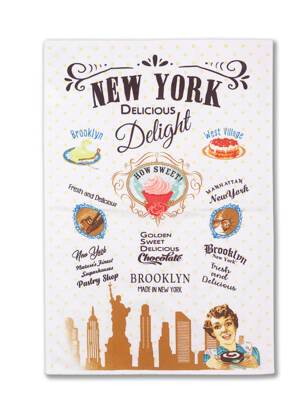 Hook and Hang- NY Sweet Dessert Kitchen Towel Beige