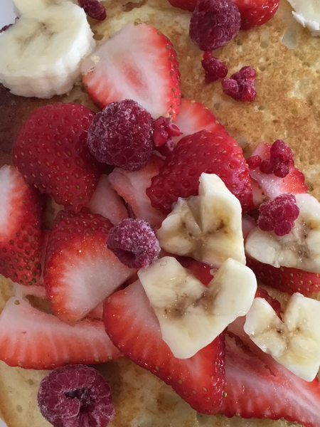 Sprouted Baby Cereal Pancakes