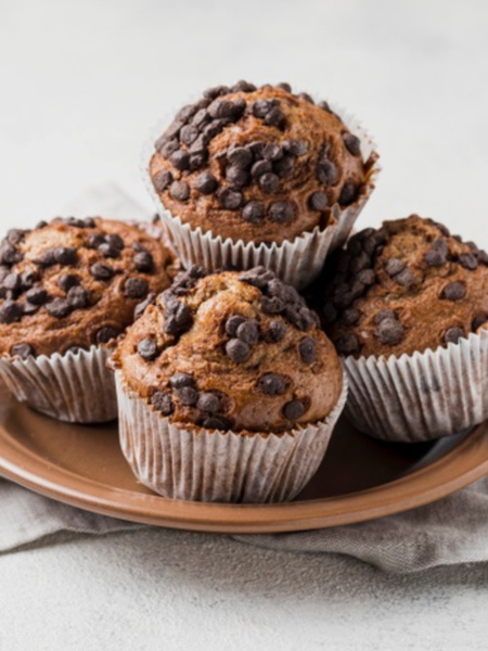 Sprouted Flax Pumpkin Chocolate Muffin