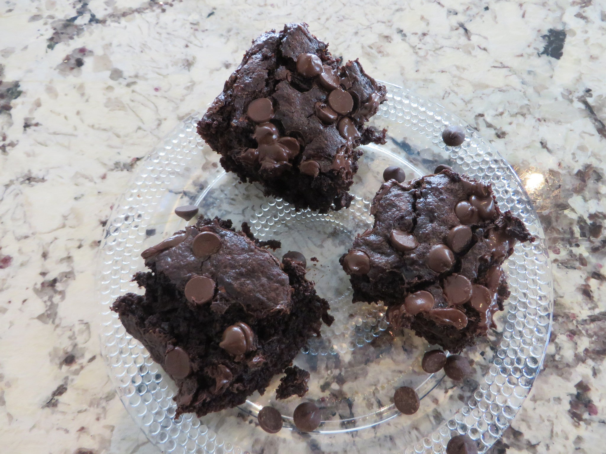 Sprouted Whole Wheat Chocolate Zucchini Brownies: