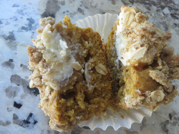 Sprouted Surprise Pumpkin Flax Muffins