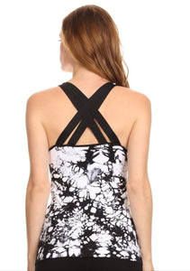 Abstract Geo Print Performance Tank