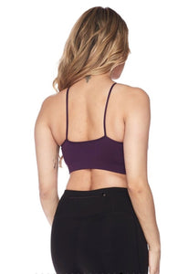 Criss Cross Athletic Bra (wine)