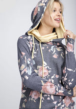 Load image into Gallery viewer, rise and balance floral hoodie