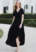 Load image into Gallery viewer, Hi Lo Maxi Dress (Black)