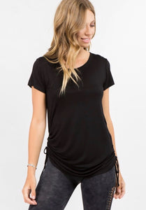 Cinch Side Tee (Black)