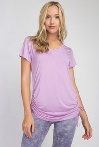 Cinch side Tee (Lavender)