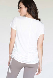 Cinch Side Tee (Off White)