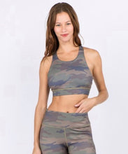 Load image into Gallery viewer, Find Me Racer Back Athletic Bra (Camo)