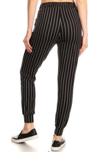 Load image into Gallery viewer, Black Pin Stripe Joggers