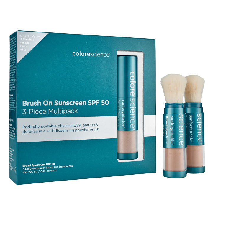Colorescience Enviroscreen™ Protection Multi-Pack: 3 Bushes SPF 50 Medium