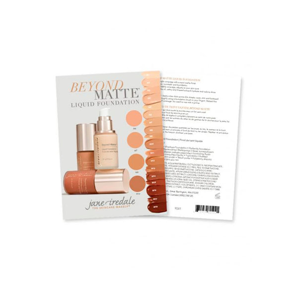 Jane Iredale Beyond Matte™ Liquid Foundation - Sample Card